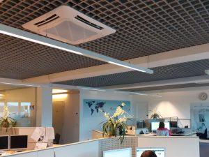dettaglio ufficio impianto climatizzazione a cassetto