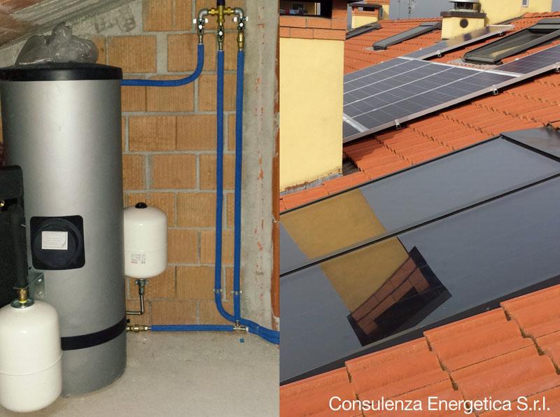 impianto solare termico con pompa di calore