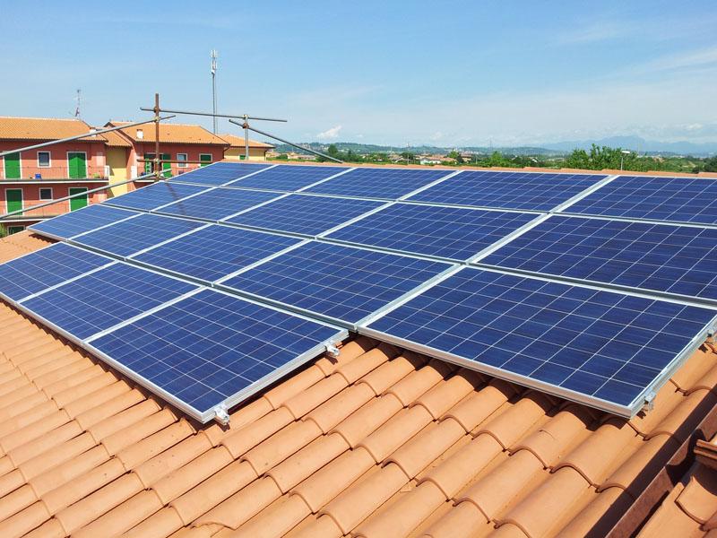 Impianto fotovoltaico residenziale privato